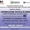 La Comunicazione Politica in Europa: la sfida del fundraising e del people raising