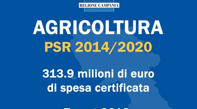 PSR Agricoltura: la Campania supera il target di spesa del 2018