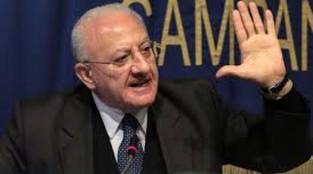 """De Luca: """"Sud condannato a morte senza fondi europei"""""""